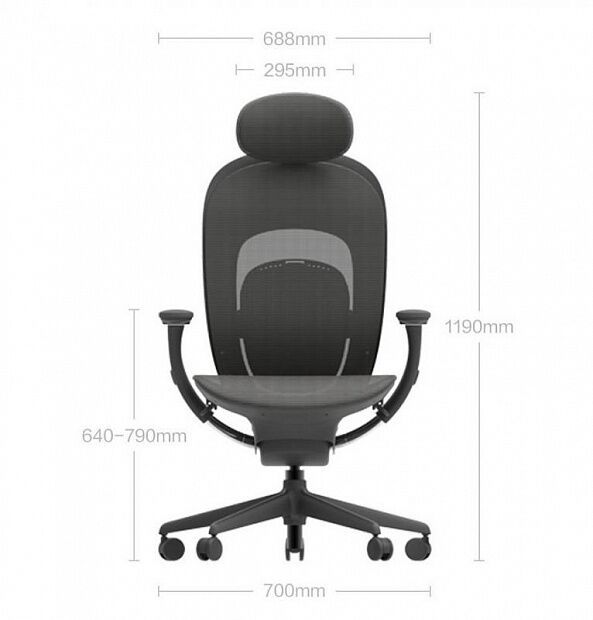 Xiaomi MiJia Ergonomic Chair (Black)
